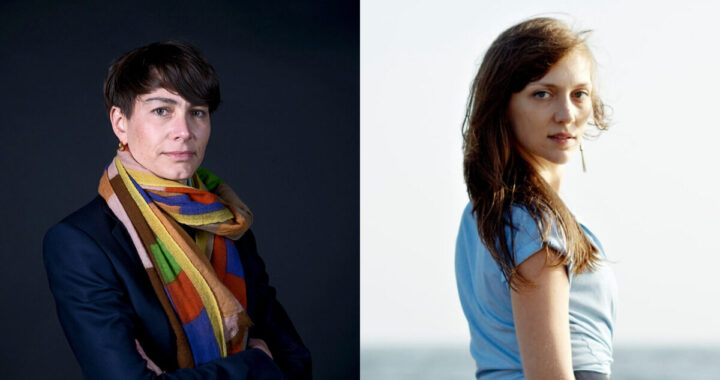 Portraits of Joy Sorman and Catherine Lacey, the speakers of the events